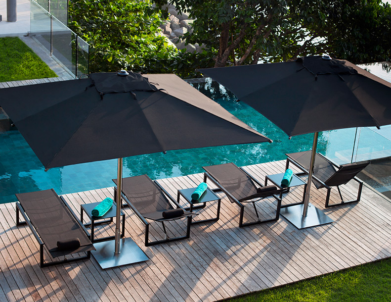 Royal Botania - Ninix Chaise Lounges & Tables, Umbrellas