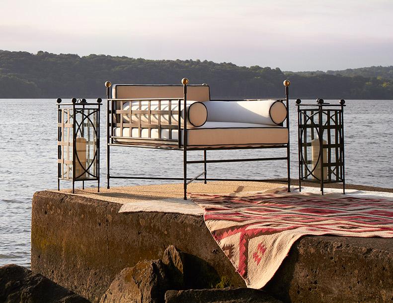 Amalfi Living - Tuxedo Club Chair & Lanterns