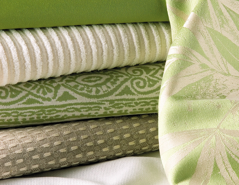 Giati Elements Textiles - Greens & Whites