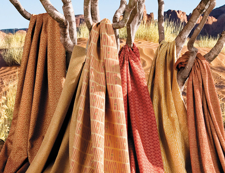 Giati Elements Textiles - Honey & Sienna