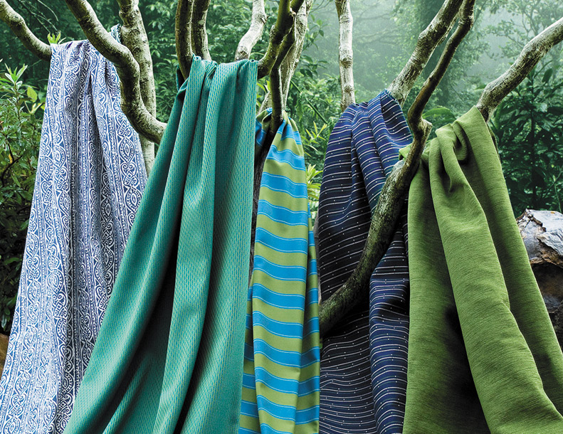 Giati Elements Textiles - Blues & Greens