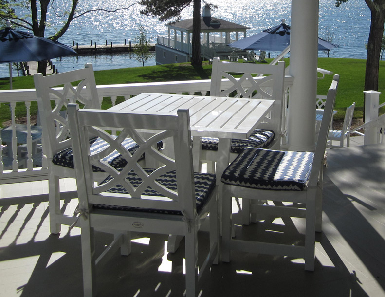 Richardson Allen - Cape Porpoise Chairs & Straight Pedestal Table