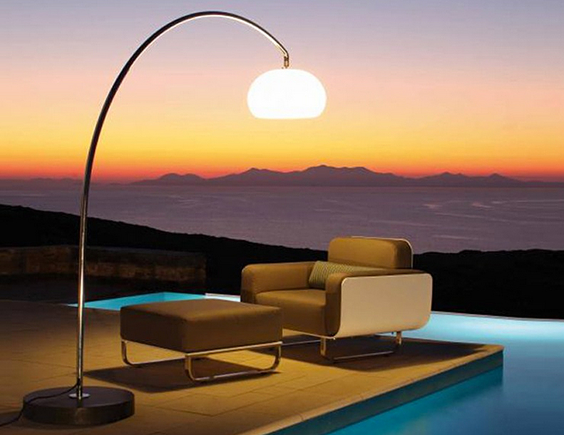 Royal Botania - 60T Lamp, Fold Lounge Chair & Ottoman