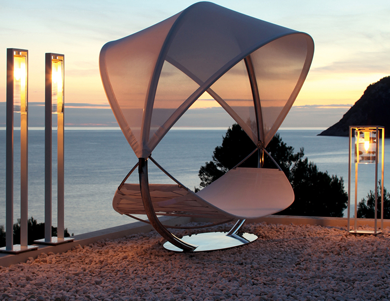 Royal Botania - Dome Floor & Dome Move Lamps, Surf Hammock