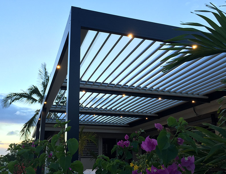 Solisysteme – Bioclimatic Pergola, with LED lighting