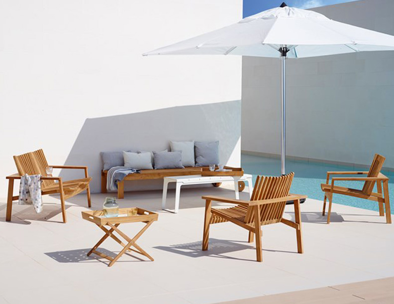 Cane-line - Amaze Lounge & Oban Parasol