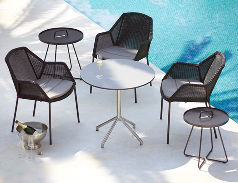 Cane-line - Avenue Table & Breeze Stacking Chairs