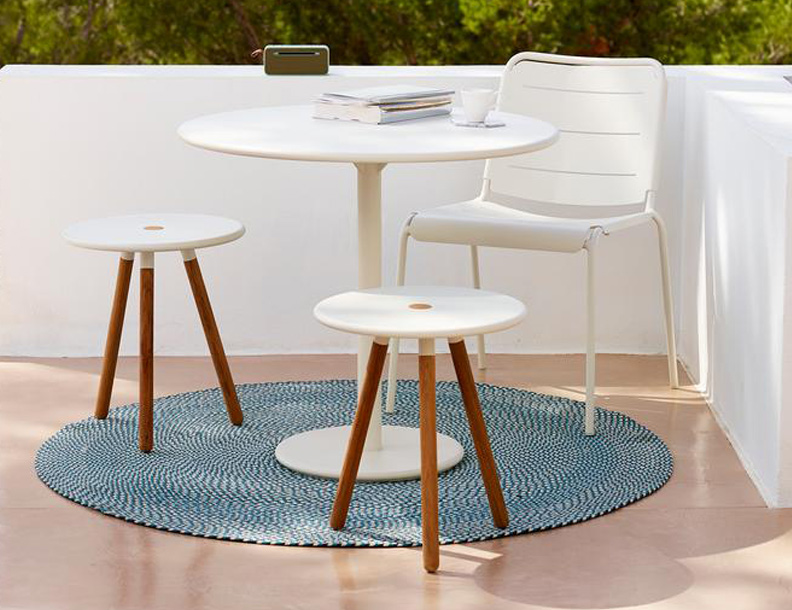 Cane-line - Go Table, Area Stools & Copenhagen Chair