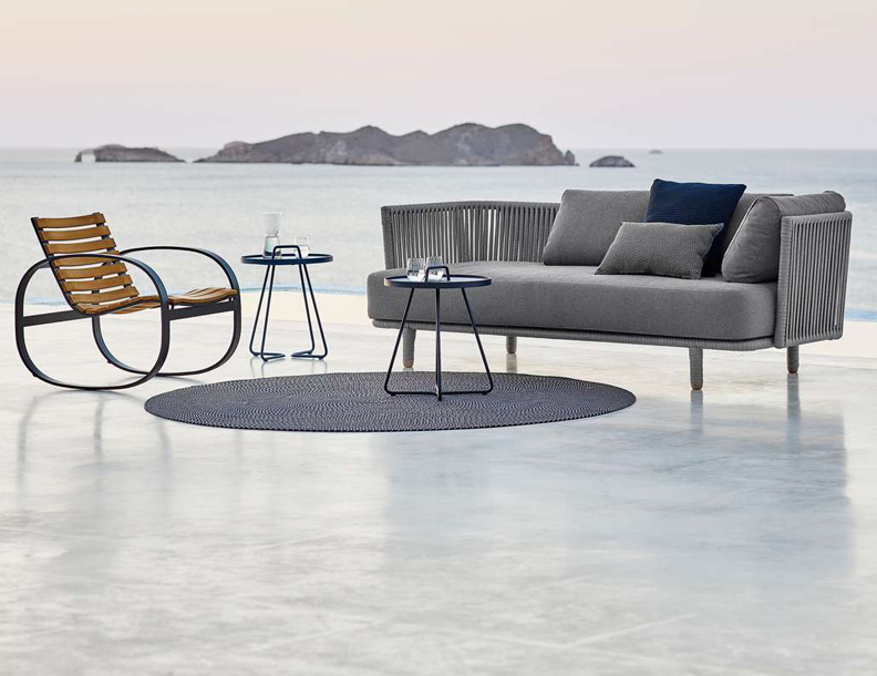 Cane-line - Moments Sofa, Parc-Rocker & On the MoveTables