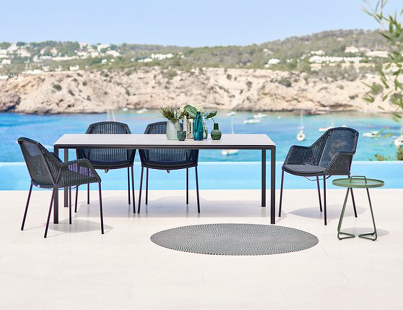 Cane-line - Pure Table & Breeze Stackable Chairs