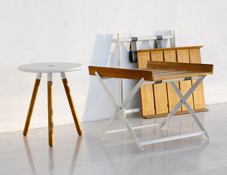 Cane-line - Rail Folding Table & Area Stool