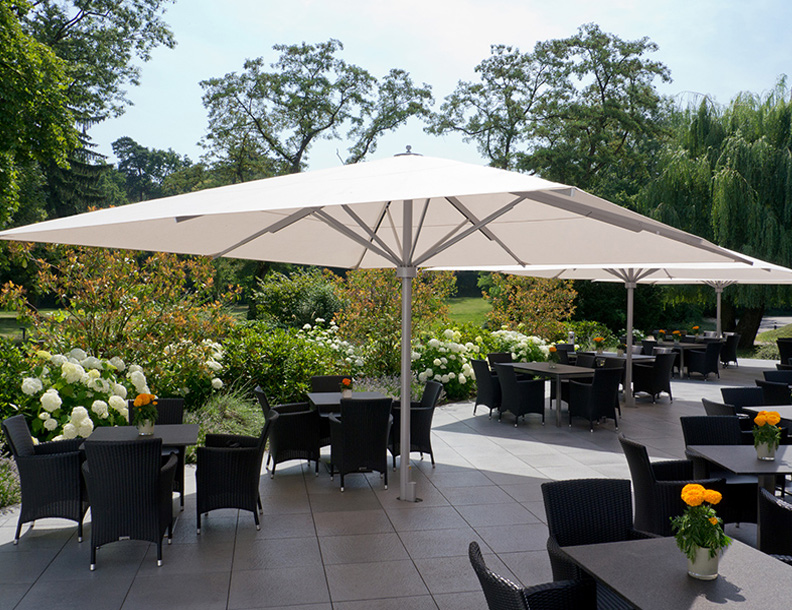 Bradley terrace caravita big ben umbrellas for Terrace umbrellas