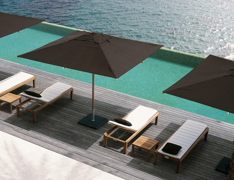 Royal Botania - Ixit Chaise Lounges & Tables; Shady Umbrellas