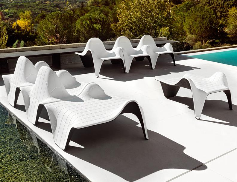 Vondom - F3 Lounge Chairs & Ottomans