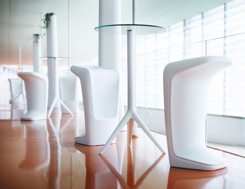 Vondom - Mari-sol Tables & UFO Bar Stools