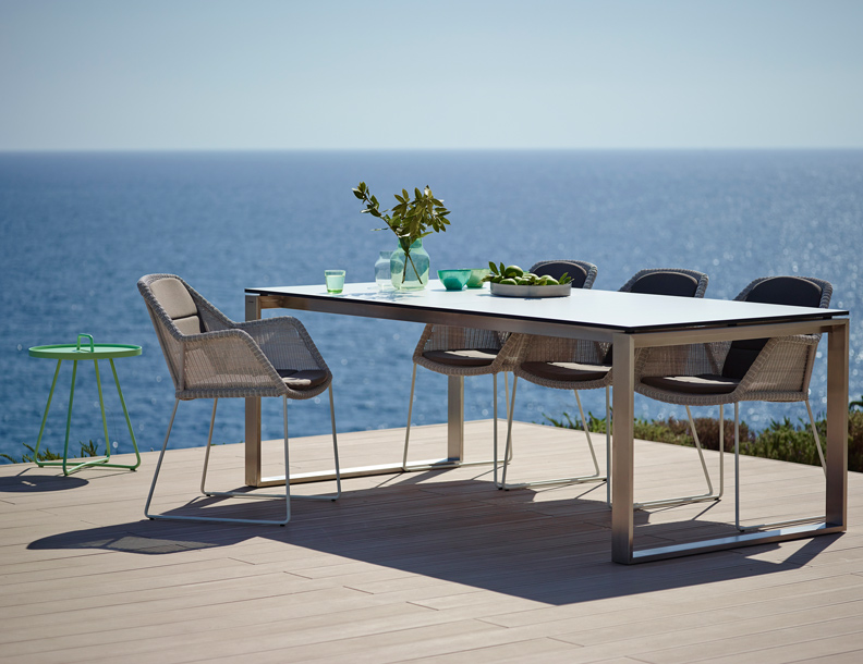Cane-line - Breeze Armchair & Edge Table