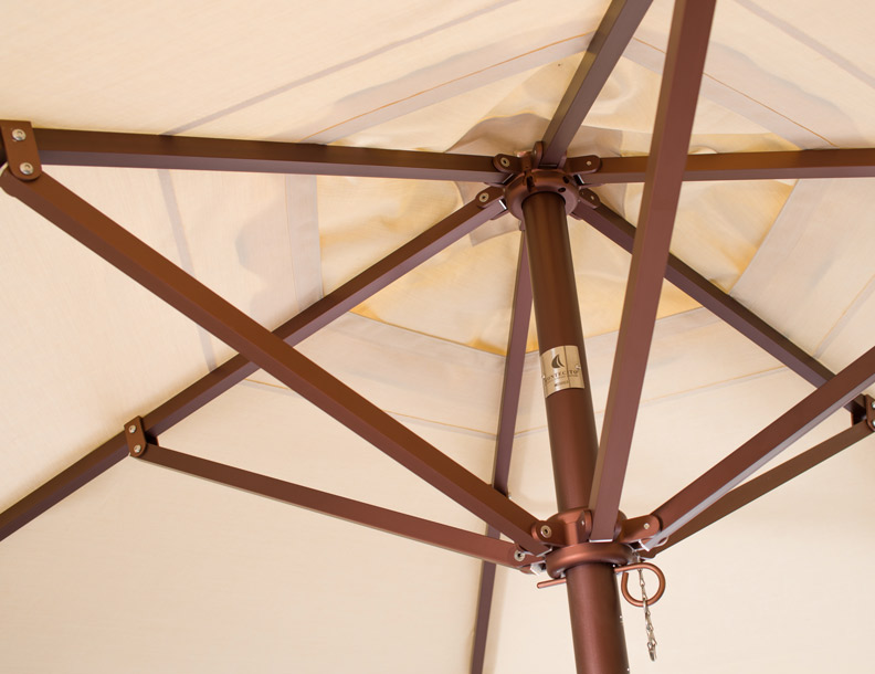 Santa Barbara Umbrella - Montecito Aluminum - Hub Detail