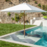 Santa Barbara Umbrella - Riviera Teak with In-Pool Base
