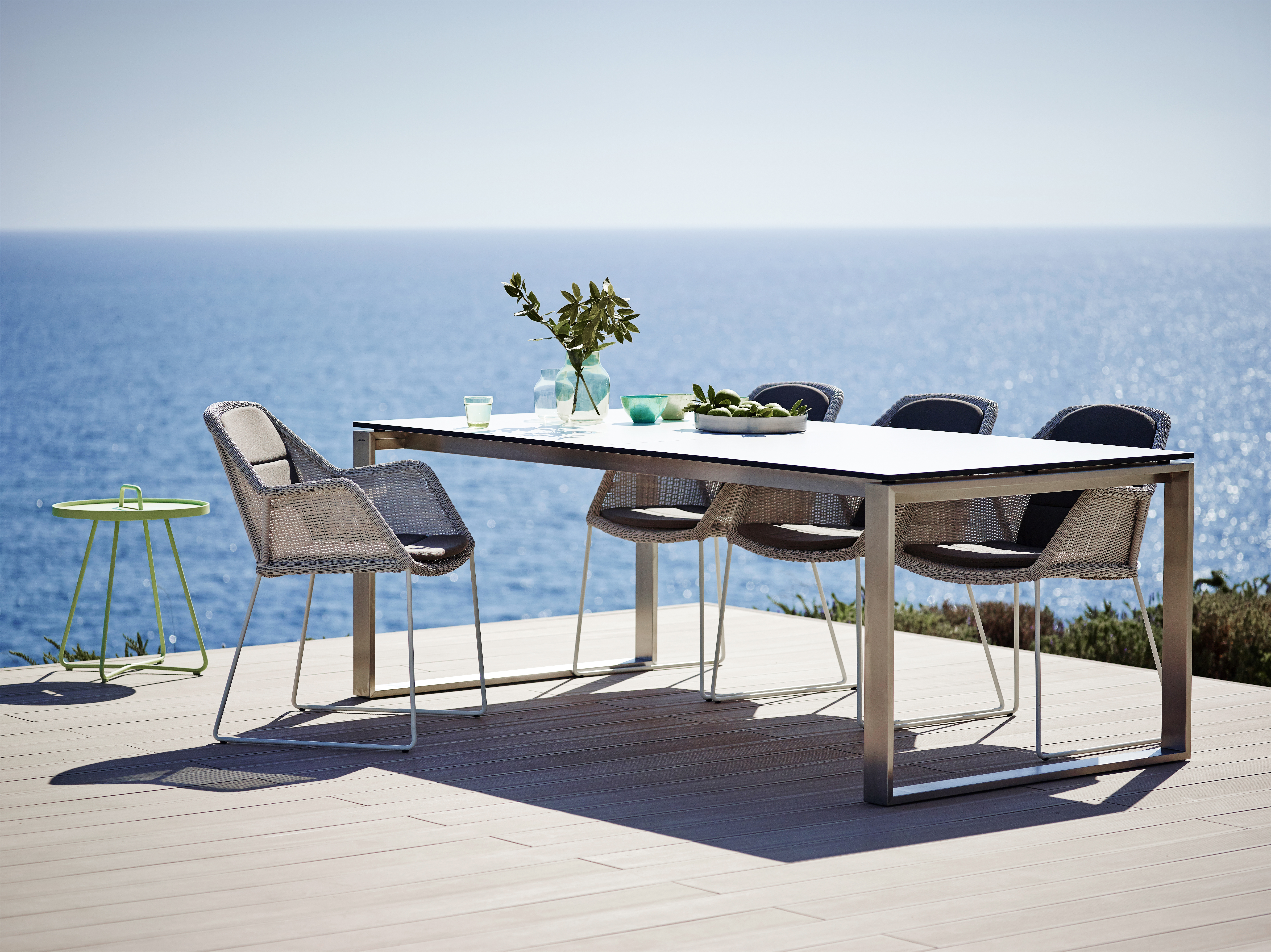 Cane Line   Edge Table U0026 Breeze Chairs